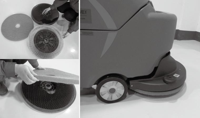 洗地机安装针座百洁垫