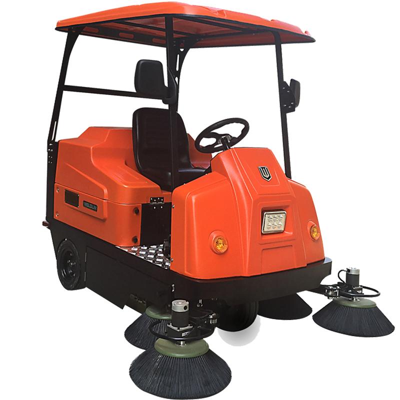驾驶式工厂扫地车_伟顿电动扫地机W1800