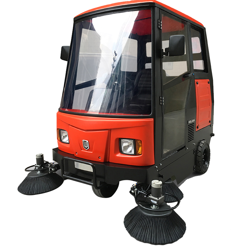 全封闭驾驶式电动扫地机_广场街道清扫车伟顿W2000型