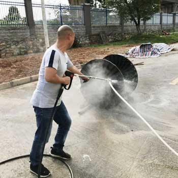 500公斤超高压清洗机服务于中国航天集团